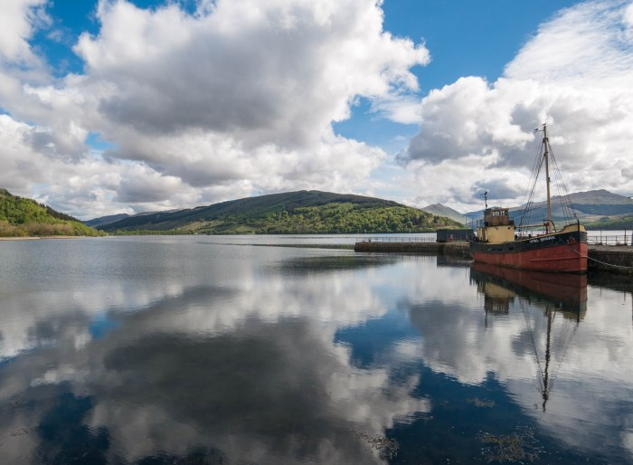 inverary loch fyne view sunny day