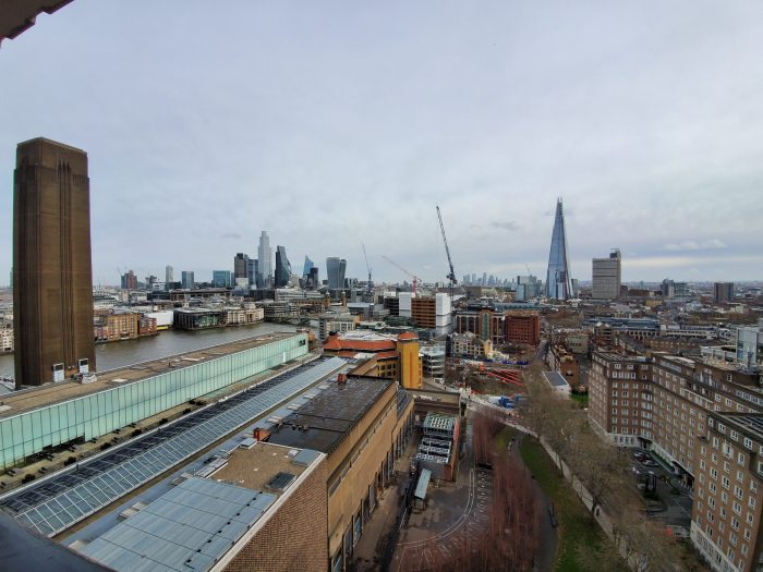 view of london skyline to the east from tate modern viewing platform