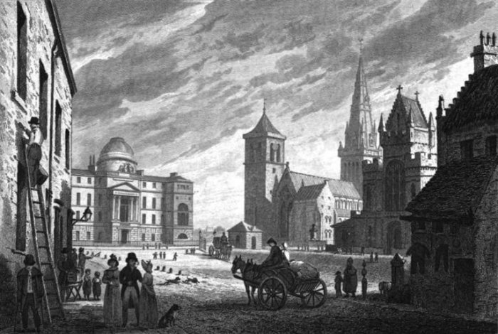 glasgow cathedral engraving from 1829