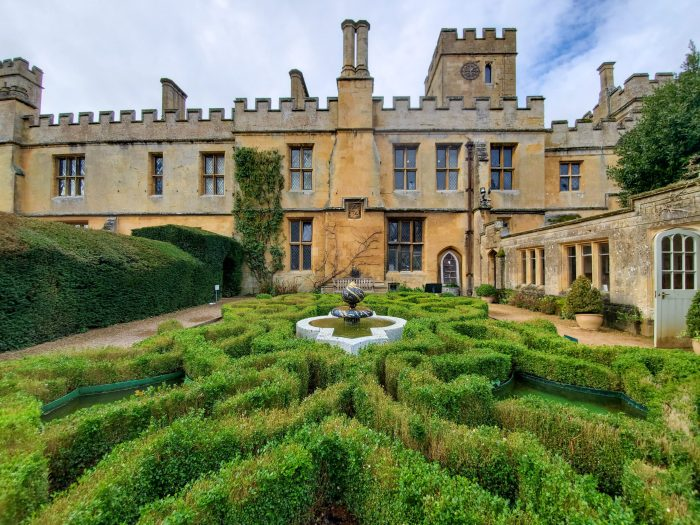 sudeley castle and gardens near winchcombe in the cotswolds in england