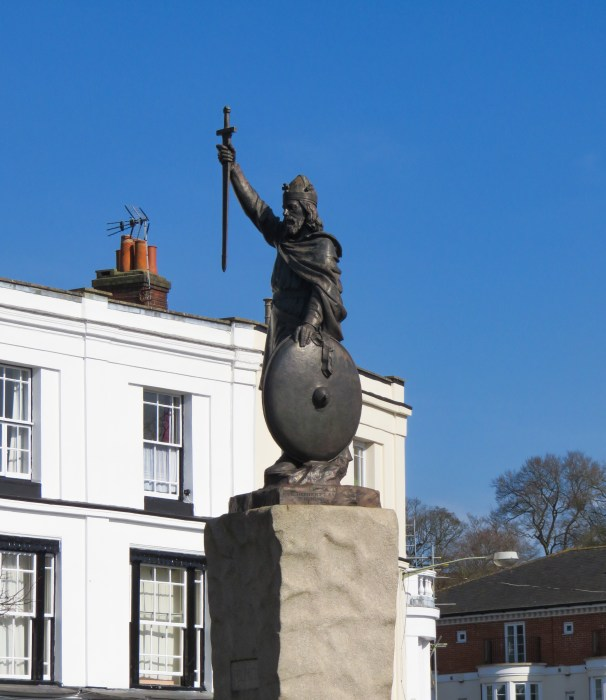 statue of king alfred the great in winchester england