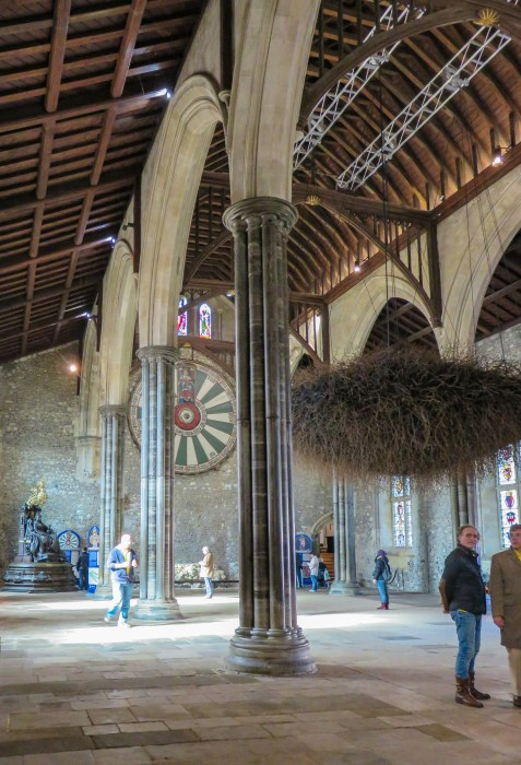 interior of winchester great hall england