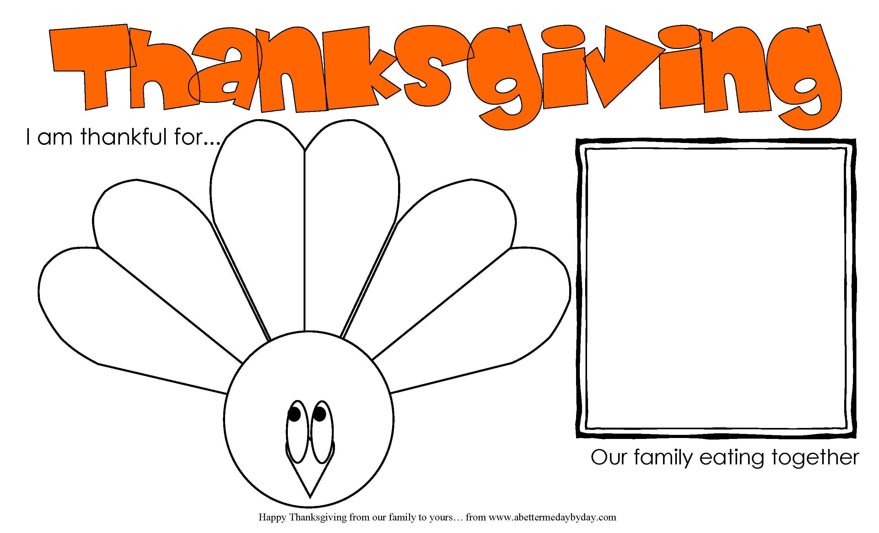 Turkey Activity Worksheet