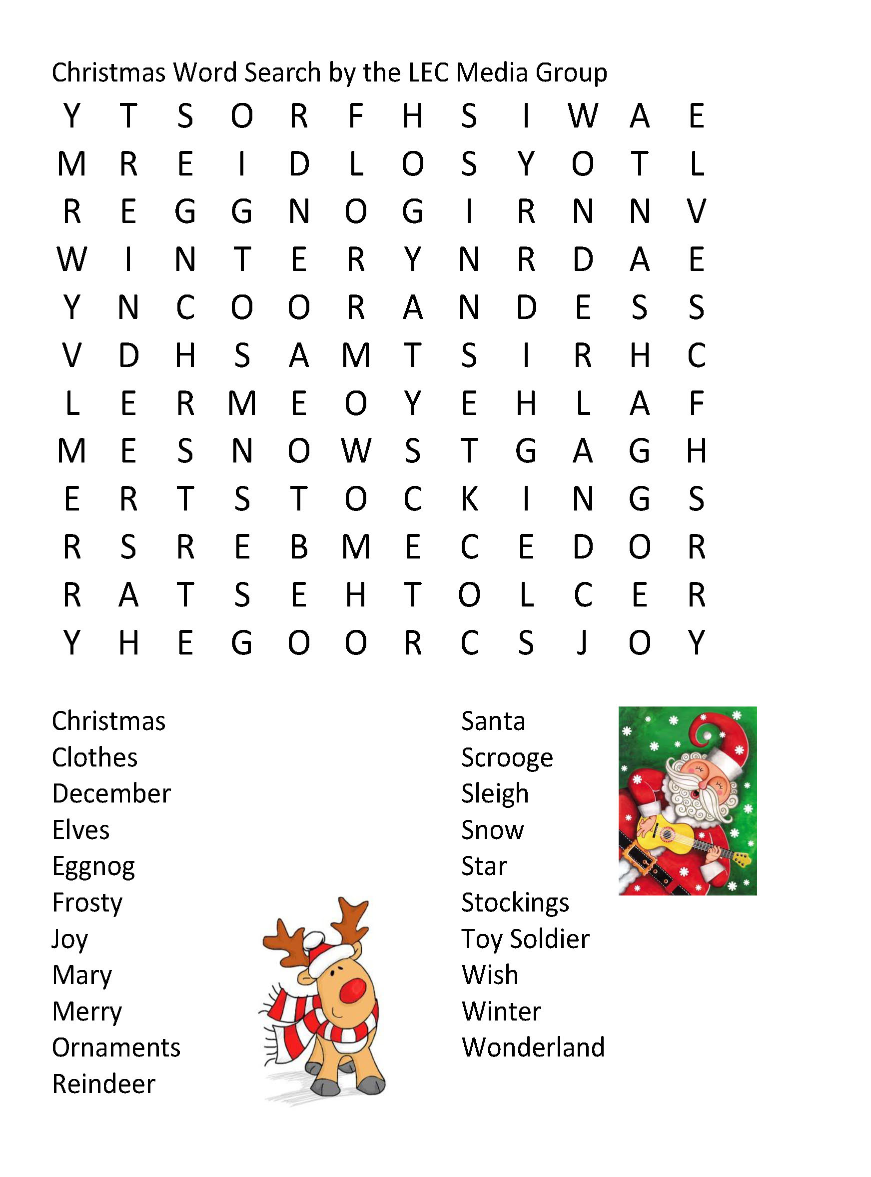 Holiday Word Searches From Life Wire