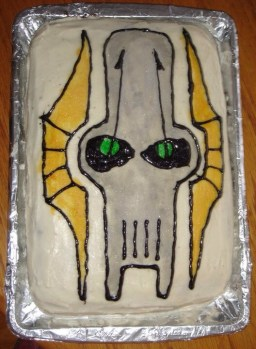 General Grievous from Clone Wars done using the same technique as the Pokemon cake.