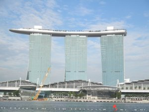marina sands hotel in singapore on the architecture tour