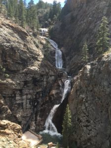254 steps to get to the top of this waterfall at Seven Falls near the Broadmoor in Colorado. Hike through the trails to see the beautiful waterfalls of Colorado.
