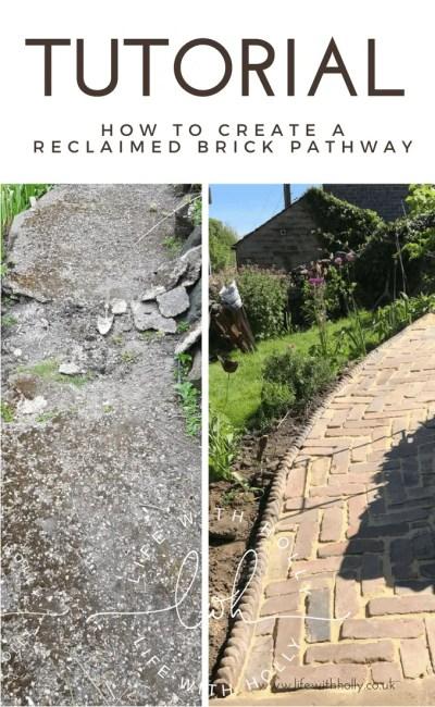 How We Built a Reclaimed Brick Garden Path – A Tutorial