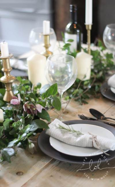 Easy Rustic Foliage Table Decoration Tutorial