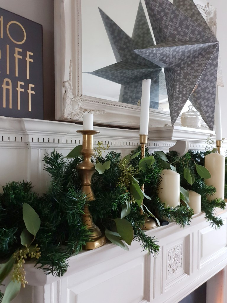 Christmas Money Saving Tips from Life with Holly - Christmas Mantel Garland