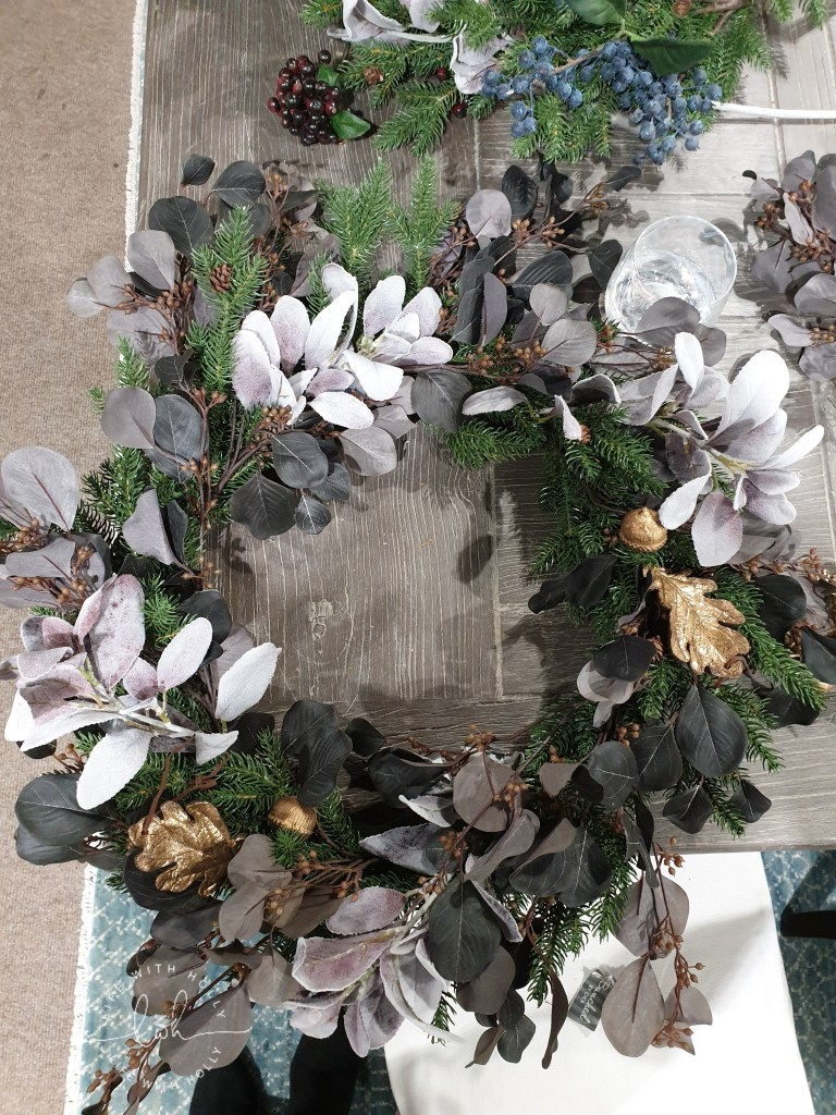 Faux Christmas Wreath Workshop with OKA Harrogate by Life with Holly - Grey Christmas Wreath