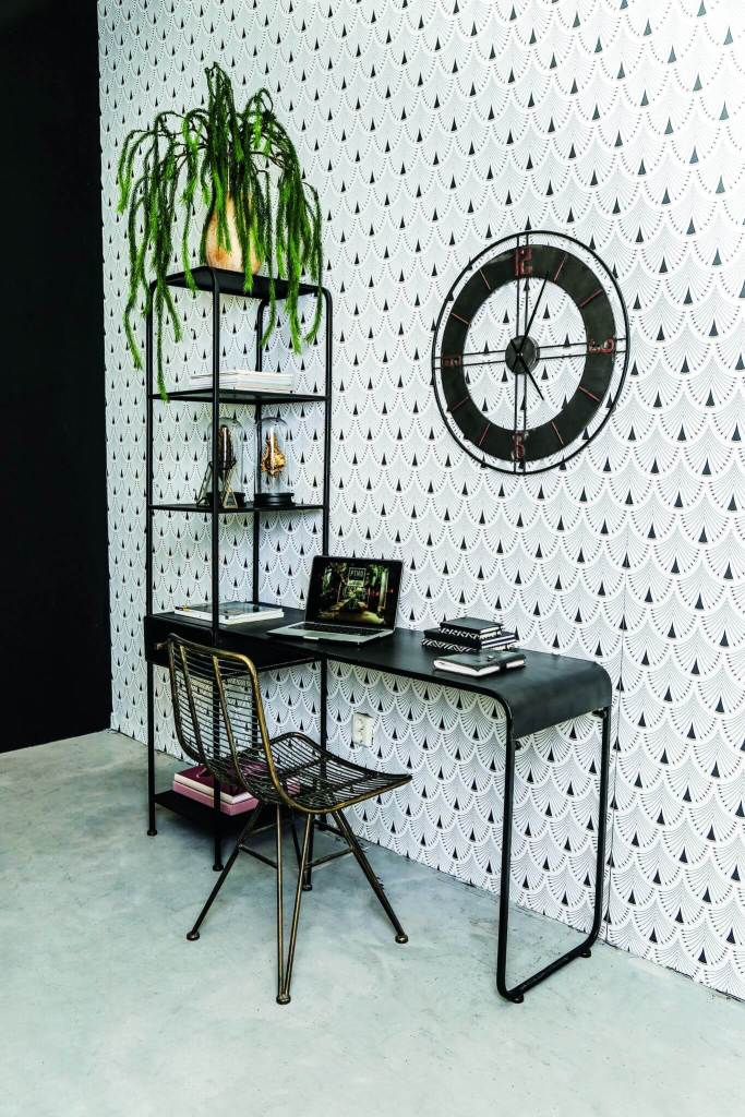 Limited-Abode-Black-Desk Home Office Ideas and Inspiration