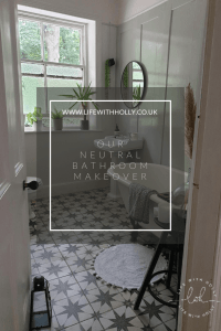 Our Neutral Bathroom - Modern Victorian Bathroom - Grey Panelling and Star Tiles by Life with Holly