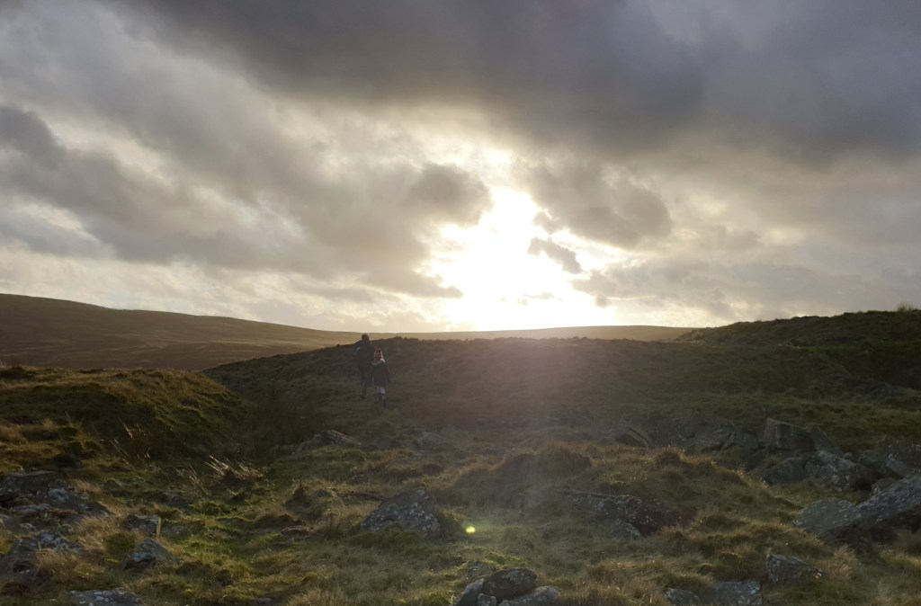 Sun setting over Yorkshire moorland - Weekend Wanders - Life with Holly