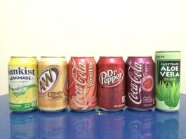Rainbow fizzy drinks