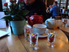 Cuppa at a bar came with Smarties