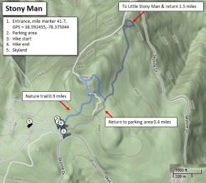 Stony Man trail map