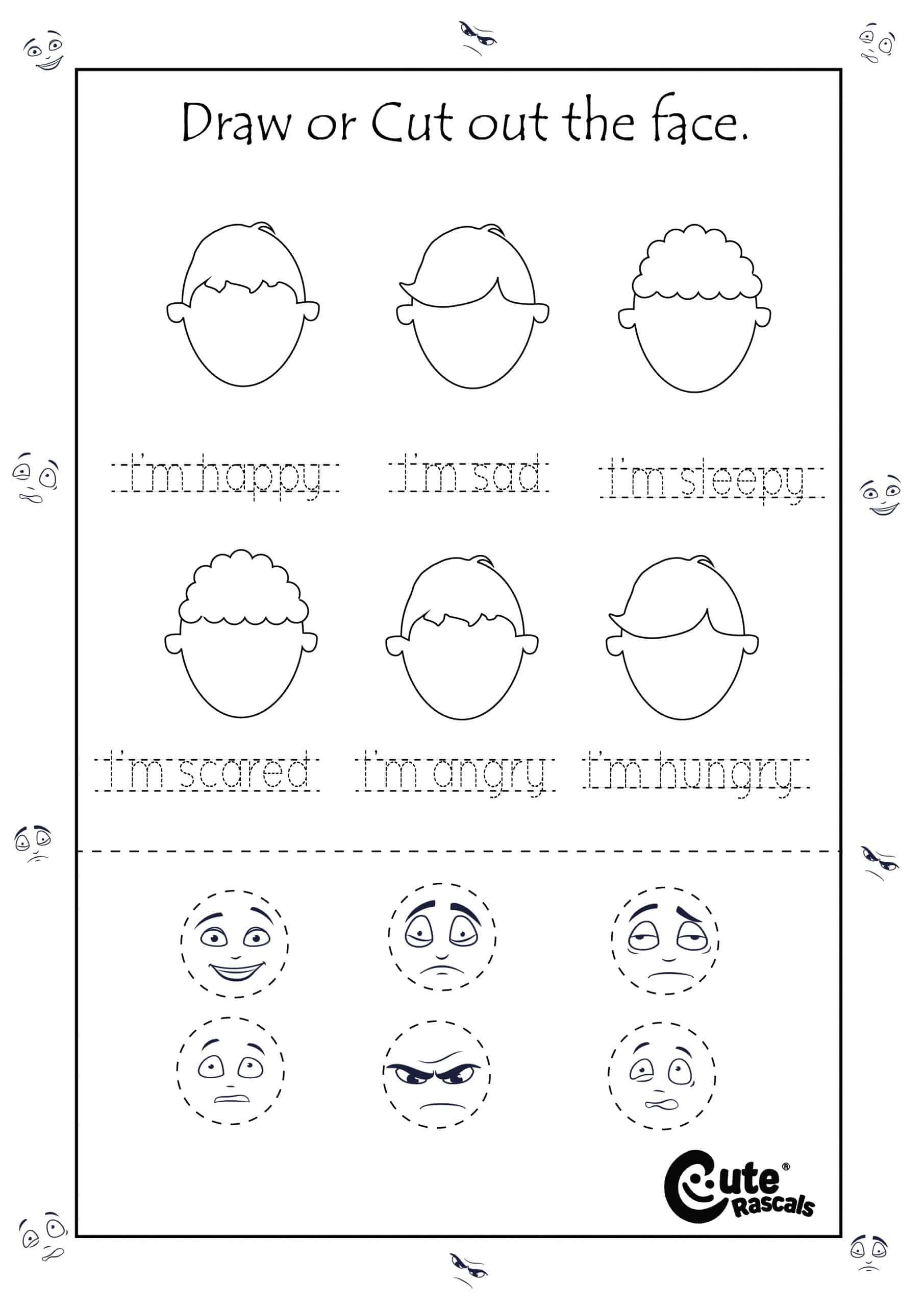 Feelings And Emotions Activity For Preschoolers