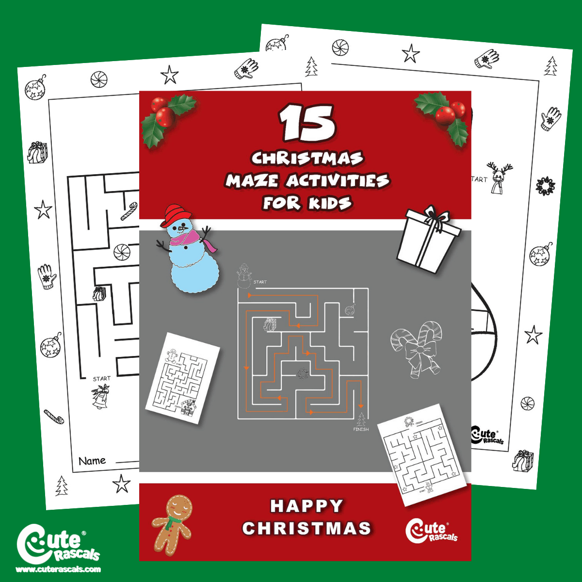 Christmas Maze Worksheets