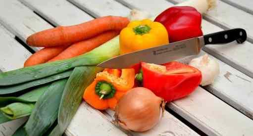Testing sharpness using tomato