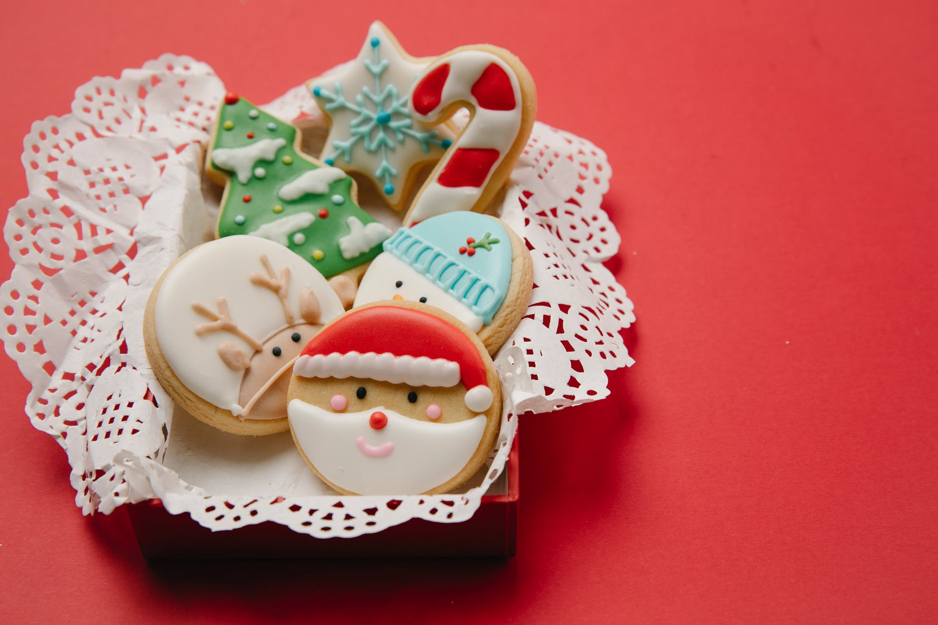 traditional christmas cookies in box