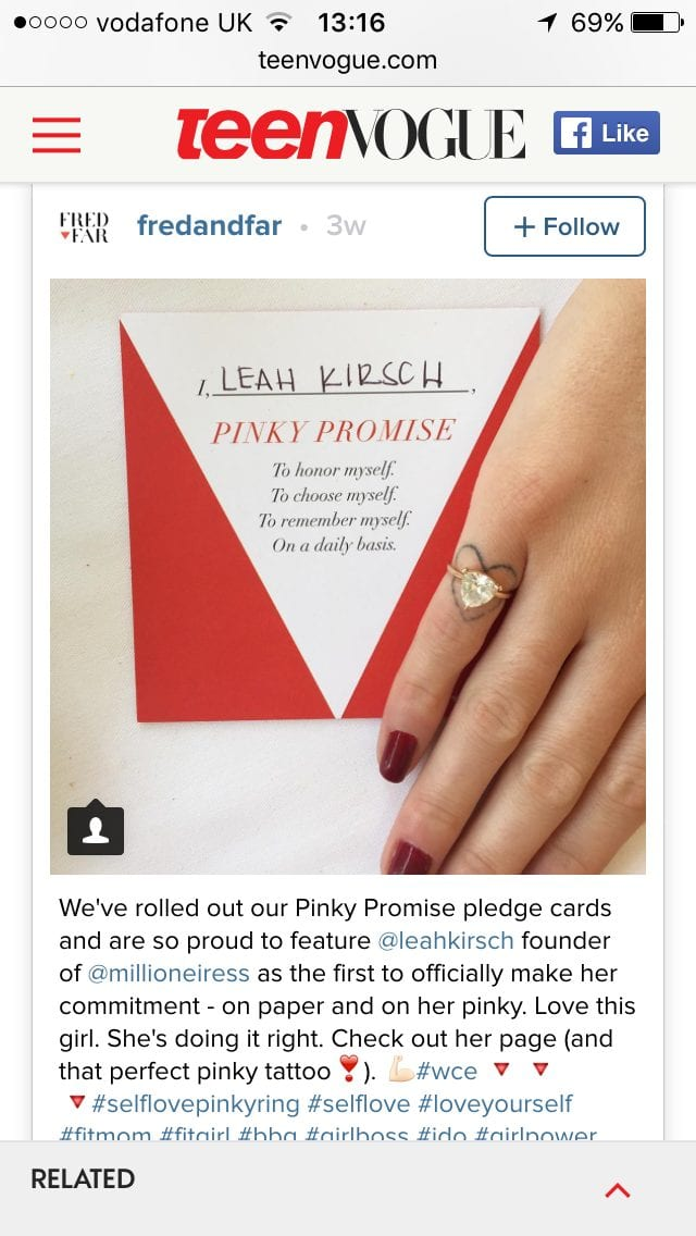 A Promise To Me - Pinky Promise Pledge Cards