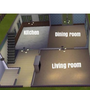 Option 1 has separate kitchen, living room, and dining room.