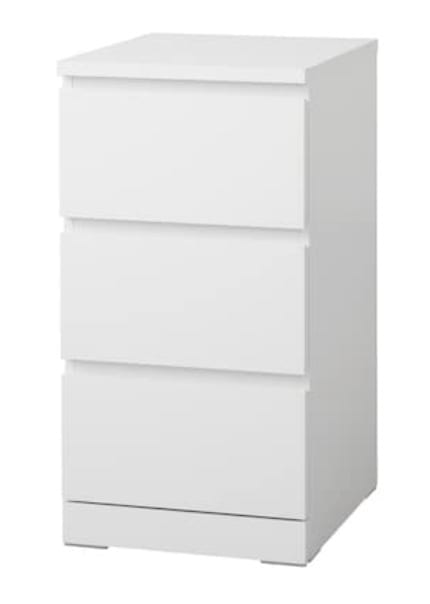 MALM Chest of 3 Drawers (colour - white) for my new bedroom
