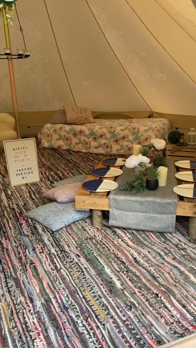 Interior of Teepee at Pick Me Up Picnic
