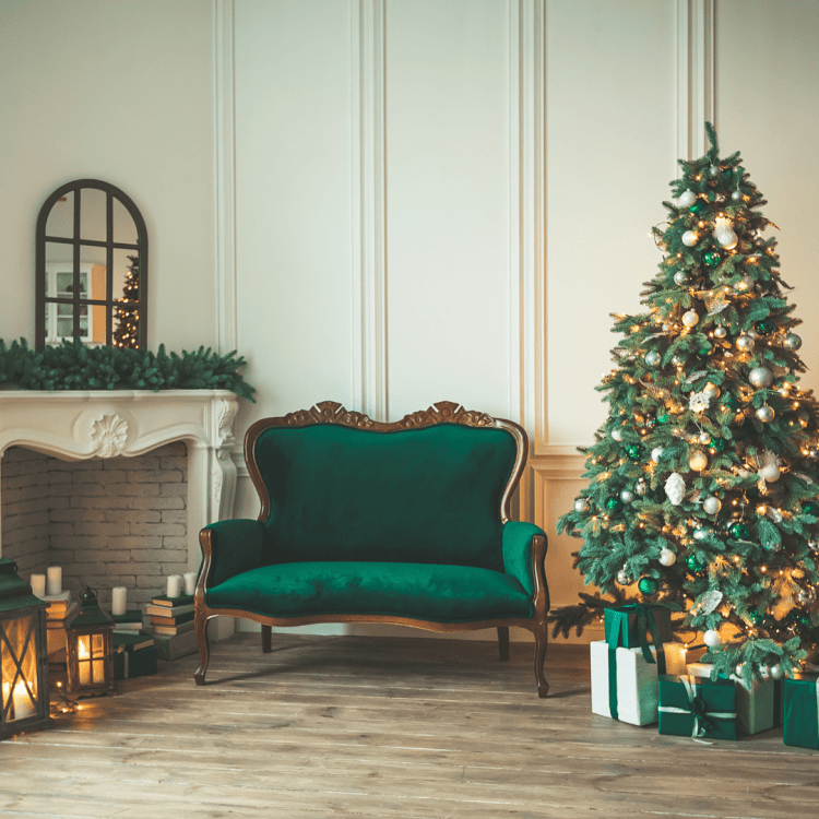 Christmas lounge tree in dream home