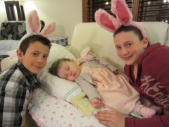 More Bunnies! Julia and James join Lauren for a cute Easter pic
