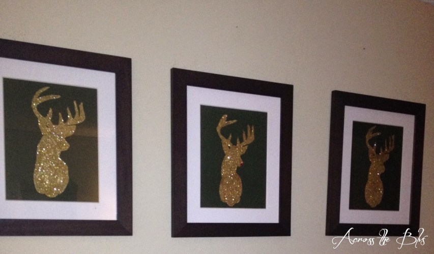 Glittered Reindeer Wall Art - Across the Blvd