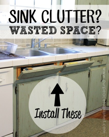 Tip Out Hidden Sink Drawer - HMLP Feature