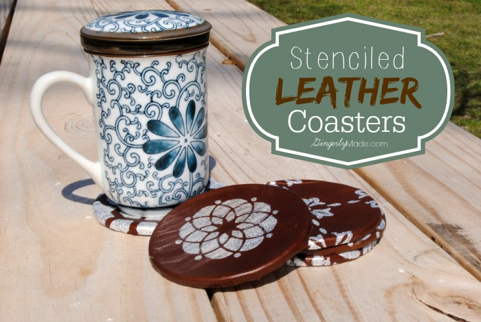 Stenciled Leather Coasters - HMLP Feature 4-24-2015