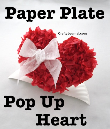 Paper Plate Pop Up Heart - Crafty Journal - HMLP71 - Feature