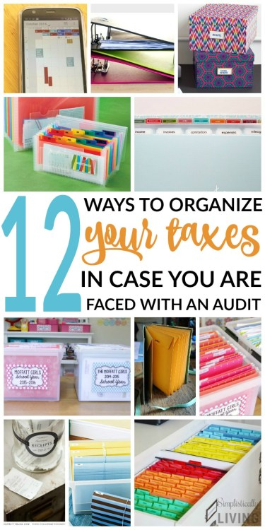 12 Ways to Organize Taxes - Simplistically Living - HMLP 73 - Feature