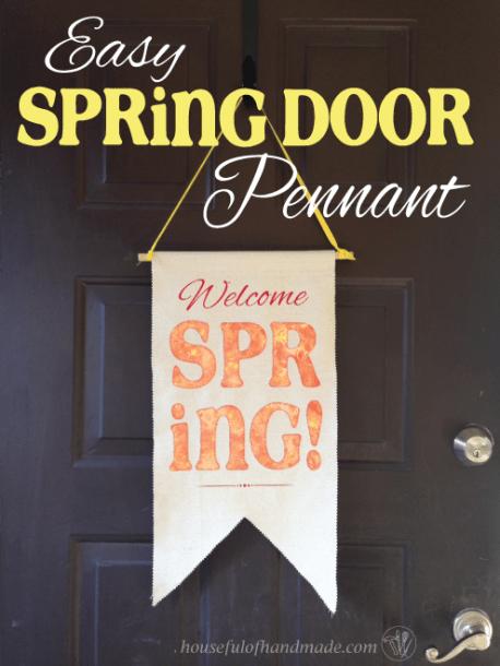Easy Spring Door Pennant - A Houseful of Handmade - HMLP 74 - Feature