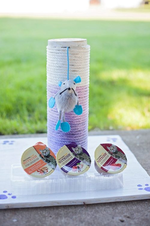 Purrfect Ombre Cat Scratch Post DIY - The Perfect Storm - HMLP 92 - Feature