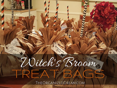 Witch's Broom Treat Bag - The Organized Dream - HMLP 105 - Feature