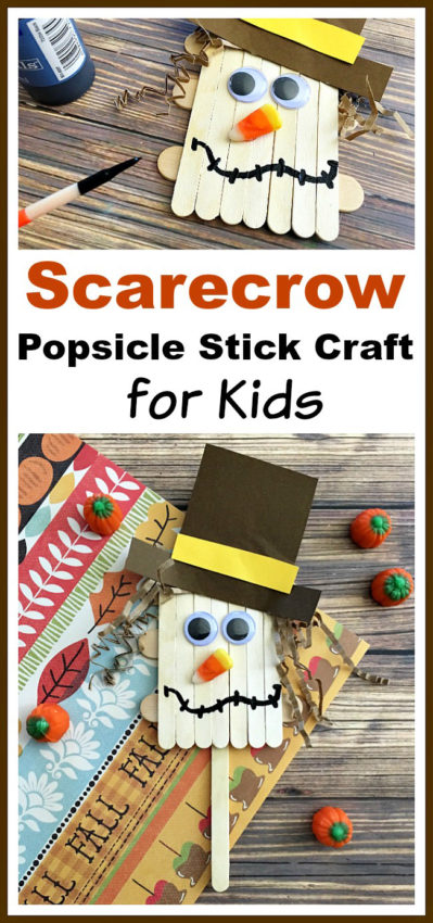 Scarecrow Popsicle Stick Craft - A Cultivated Nest - HMLP 109 Feature