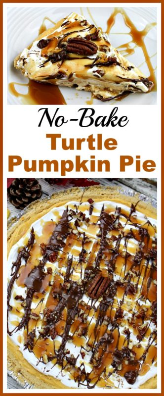 No-Bake Turtle Pumpkin Pie - A Cultivated Nest - HMLP 113 Feature