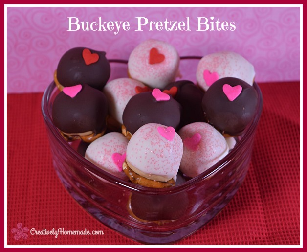 Peanut Butter Buckeye Pretzel Bites Recipe - Creatively Homemade - HMLP 119 Feature
