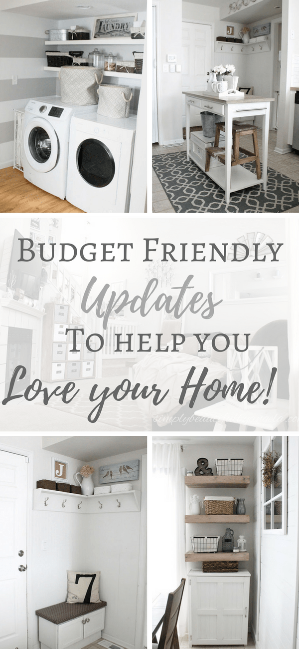 Budget Friendly Updates To Help You Love Your Home - Simply Beautiful By Angela - HMLP 141 Feature