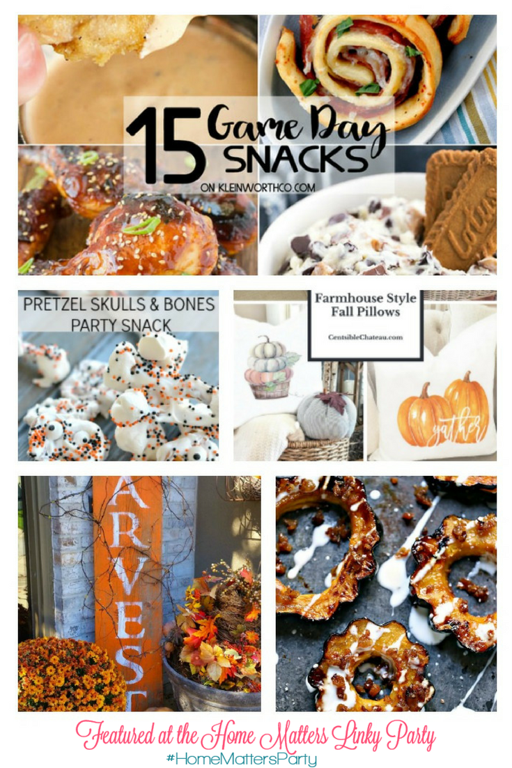 Come join the fun and link your blog posts at the Home Matters Linky Party 155. Find inspiration recipes, decor, crafts, organize -- Door Opens Friday EST.