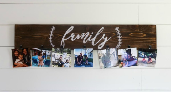 Easy DIY Family Photo Display - Love And Renovations -