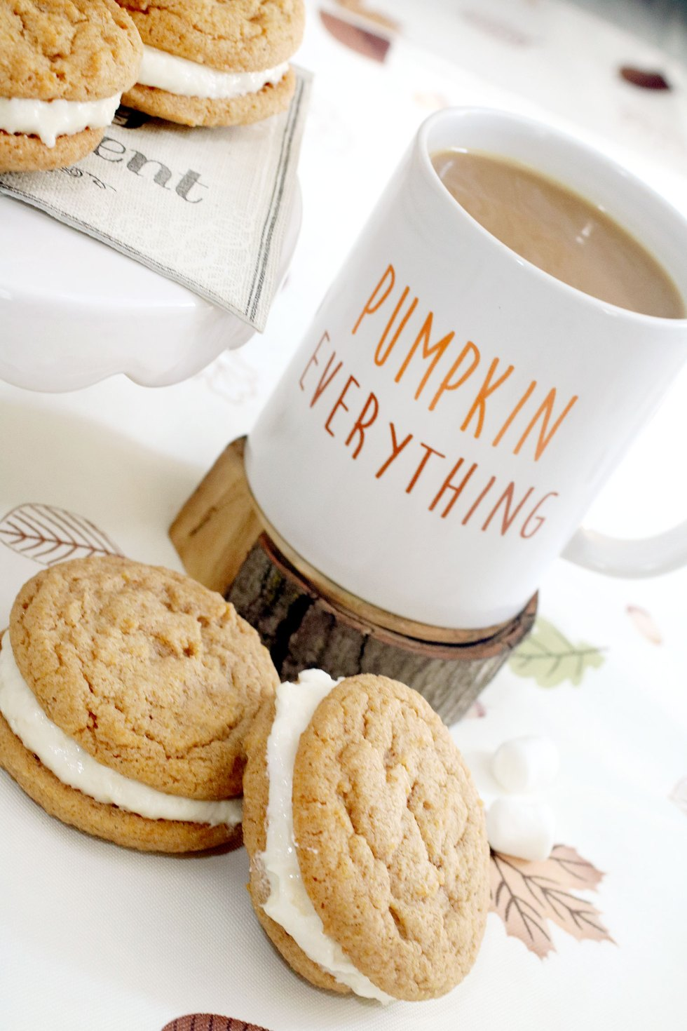 Pumpkin Spice and Marshmallow Whoopie Pies - Curly Crafty Mom - HMLP 157 Feature