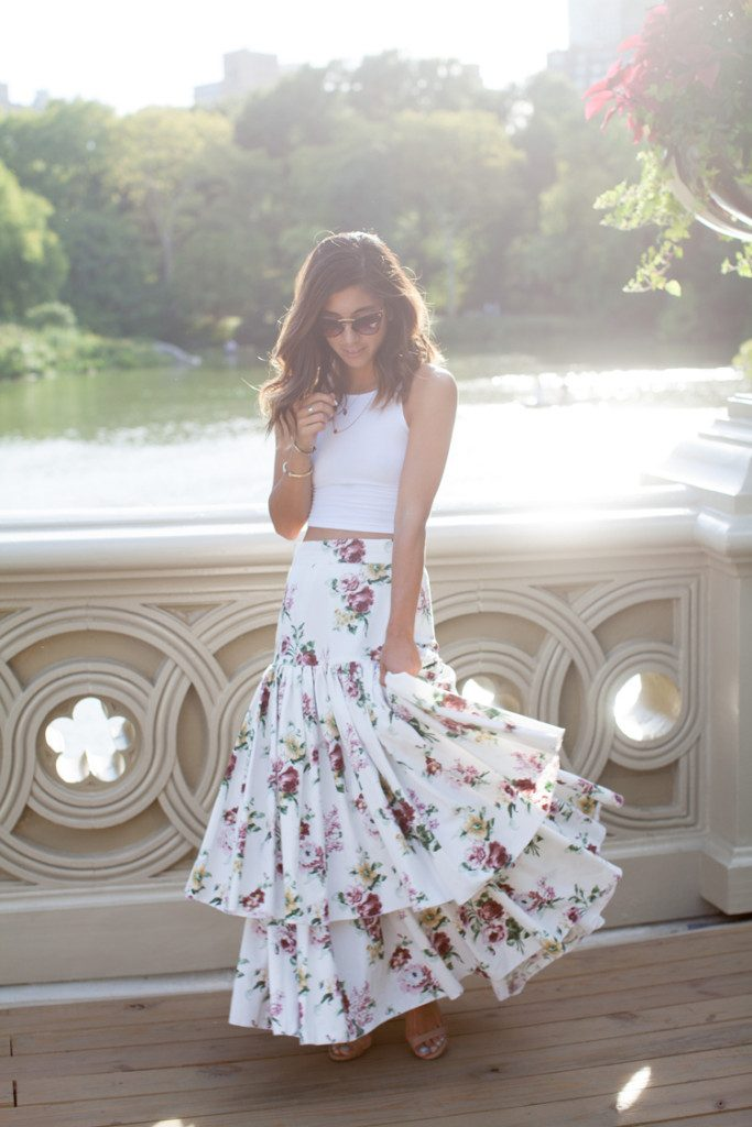 crop top maxi skirt