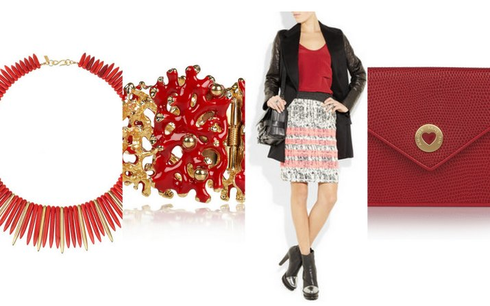 what to wear for valentine's day red accessories
