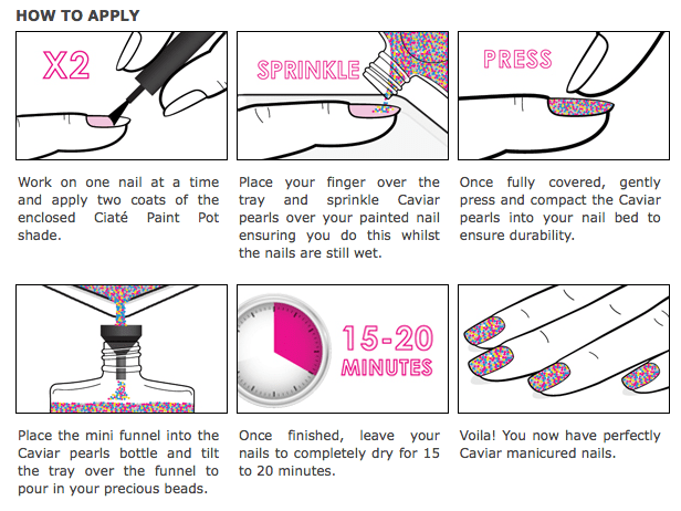 caviar manicure how to apply