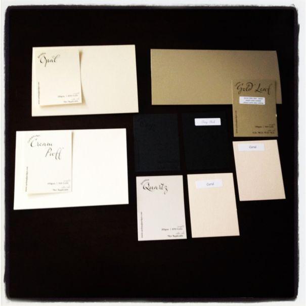 DIY wedding invitation swatches